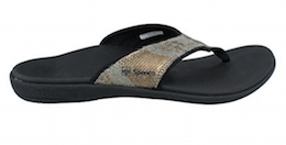 Spenco Yumi Womens Orthotic Flip Flops Java
