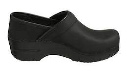 Dansko Women's Professional Oiled Leather Clog Black