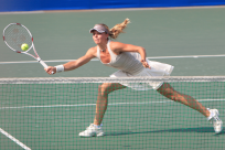 a tennis player wearing a good pair of tennis shoes