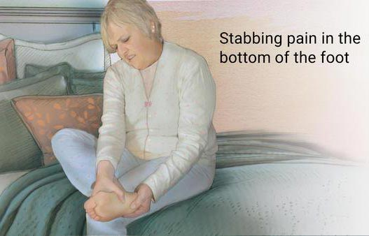 stabbing pain in the bottom of the foot