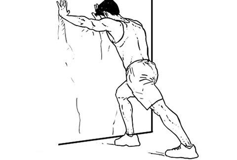 illustration of standing calf stretch