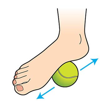 trigger point therapy using a tennis ball