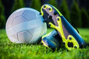soccer Cleats and ball